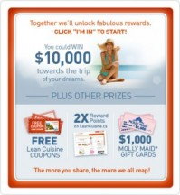"View the ""Lean Cuisine Canada – Reap the Rewards: Coupons, Double Rewards and More"" coupon page"