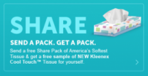 "View the ""FREE Kleenex for you AND a friend!"" coupon page"