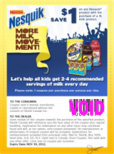"View the ""Nesquick – Save $1.00 with milk purchase"" coupon page"