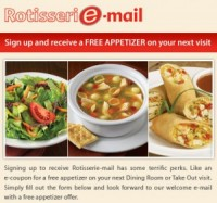 "View the ""FREE Swiss Chalet Appetizer"" coupon page"