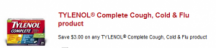 "Consultez la page de réduction ""$ 3.00 off Tylenol Complete Cough, Cold & Flu"""