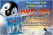 "View the ""Win A Free Copy Of Happy Feet Two"" coupon page"
