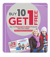 "View the ""Pharmasave Buy 10 Get 1 FREE"" coupon page"