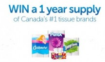 "View the ""Cashmere, Purex & Scotties WIN a Year's Supply – Monthly Draw!"" coupon page"