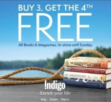"View the ""Chapters/Indigo – Buy 3 Books or Magazines Get 4th FREE!"" coupon page"
