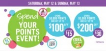 "Consultez la page de réduction ""Shoppers Drug Mart Passez vos points Event 12-13, 2012""."