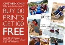 "Consultez la page de réduction ""Black's Buy 100 Prints Get 100 FREE""."