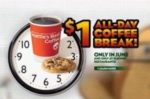 "View the ""Subway Coffee & Cookie for $1"" coupon page"