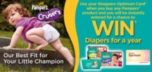 "View the ""Win Pampers 1 Year Supply (or 23,360,333 Shoppers Optimum Points!)"" coupon page"