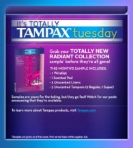 "View the ""Tampax Tuesday: FREE samples (Canadian Facebook Freebie)"" coupon page"