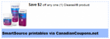 "View the ""Clearasil $2 OFF any Product (Printable SmartSource Canadian Coupon)"" coupon page"