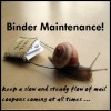 "View the ""Binder Maintenance – I have a Turkey Hangover!"" coupon page"