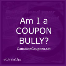 "View the ""Am I a Coupon Bully?"" coupon page"