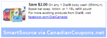 "Consultez le ""coupon $ 2 OFF Body Wash, Bar Soap ou Lotion (Printable SmartSource)"" coupon page"