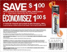 "View the ""Energizer $1 OFF Energizer MAX Batteries (Printable Canadian Coupon)"" coupon page"