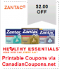 "View the ""Zantac $2 OFF any Product (Printable Healthy Essentials Coupon)"" coupon page"