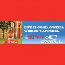 "Consultez la page de réduction ""GoGear 50% OFF O'Neill Women's Apparel"""