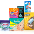 "View the ""P&G brandPack Sample – Pampers Swaddlers(20pk) Cascade Platinum(2pk/34g) Downy Unstoppables(1load) Tide PODS(1capsule) Mr Clean Magic Eraser(1pad) Swiffer Duster(1 duster)"" coupon page"