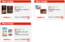 """View the """"Metro Canada Exclusive Printable Coupons"""" coupon page"""