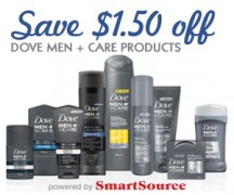 "Consultez la page de réduction ""Save $ 1.50 off Dove Men + Care Products"""