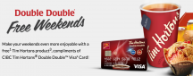 "View the ""FREE Tim Hortons Product Every Weekend Just for Using CIBC Card"" coupon page"