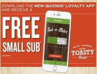 "View the ""Quiznos Free Small Sub"" coupon page"