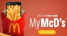 "Consultez la page de réduction ""Freebies & Deals from McDonald's"""