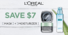 "View the ""50% off L'Oreal Pure Clay Mask & Hydra Genius Liquid Moisturizer"" coupon page"