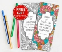 "View the ""FREE Set of Coloring Bookmarks!!"" coupon page"