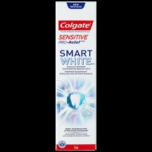"View the ""Pro Relief – Save $1.50 any one (1) Colgate Sensitive Pro-Relief Smart White 75 mL toothpaste or any one (1) Colgate Sensitive Pro-Relief 120 mL toothpaste (excluding trial / travel size) at Shoppers Drug Mart."" coupon page"