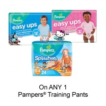 "View the ""Pampers – Save $2.00 when you buy any ONE Pampers® Training Pants (excludes trial/travel size, value/gift/bonus packs)"" coupon page"