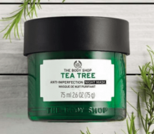 "View the ""FREE The Body Shop Tea Tree Night Mask!"" coupon page"