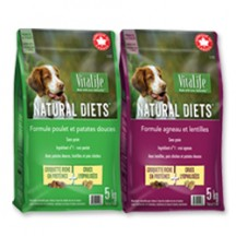 "View the ""VitaLife Natural Diets™ – Save $5.00 on on 1 bag of 5kg NEW VitaLife Natural Diets™ Grain Free Dog Food Available at Walmart"" coupon page"