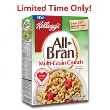 "View the ""FREE New All-Bran Multi-Grain Crunch cereal (305 g)"" coupon page"