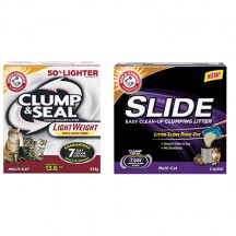 "View the ""Arm & Hammer Cat Litter – Save $3.00 ARM & HAMMER™ SLIDE™ (9.1KG-12.7KG Multi-Cat & Non-Stop Odour Control) and ARM & HAMMER™ Clump & Seal™ Lightweight 6.8kg Cat Litter"" coupon page"