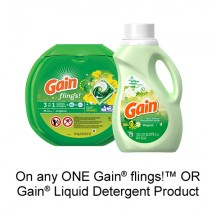 "View the ""Gain – Save $1.00"" coupon page"