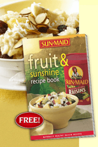 "View the ""FREE Sun-Maid Fruit & Sunshine Recipe Book"" coupon page"