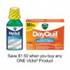 "View the ""Vicks – Save $1.50 when you buy any ONE Vicks® Product (excludes trial/travel size, value/gift/bonus packs)"" coupon page"