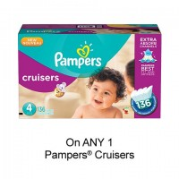 "View the ""Pampers – Save $2.00 when you buy any ONE Pampers® Cruisers Diapers (excludes trial/travel size, value/gift/bonus packs)"" coupon page"