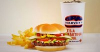 "View the ""FREE Drink With Harvey's Burger!"" coupon page"