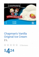 "View the ""Almost FREE Chapman's Ice Cream at Walmart!!"" coupon page"