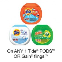 "View the ""Fabric Care – Save $2.00 when you buy any when you buy any ONE Tide® PODS™ OR Gain® flings!™ Product (excludes trial/travel size, value/gift/bonus packs)"" coupon page"