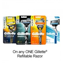 "View the ""Gillette – Save $2.00 when you buy any ONE Gillette® Refillable Razor (excludes trial/travel size, value/gift/bonus packs)"" coupon page"
