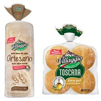 "View the ""Villaggio® – Save $1 on a package of Villaggio® Toscana Buns or Artesano Bread"" coupon page"