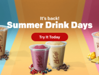 "View the ""$1 McDonald's Summer Drink Days"" coupon page"