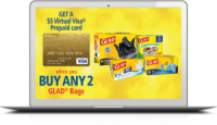 "View the ""Glad Bags FREE $5 Visa"" coupon page"